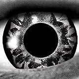 Silber / Splash 12-Monatslinsen UV Linsen Crazy Kontaktlinsen Leuchten im Schwarzlicht!