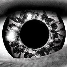 onatslinsen UV Linsen Crazy Kontaktlinsen Leuchten im Schwarzlicht! (Silber Kontaktlinsen)