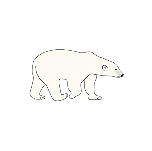 Ruofengpuzi adesivo tatuaggioautoadesivo del tatuaggio temporaneo impermeabile divertente dell'orso polare autoadesivo del tatuaggio falso originale di stile semplice originale