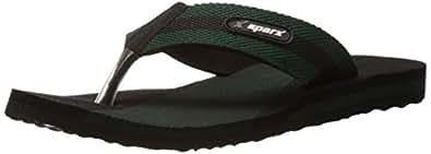Sparx Men's Mehendi Black Flip-Flops and House Slippers - 10 UK/India(SFG-14)