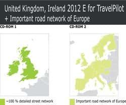 Tele Atlas CD UK/Ireland + MRE 2012 für TP E Travel Pilot E1 Travel Pilot E2 E Freesty