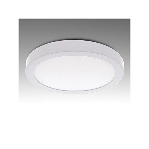 Greenice - Plafón de techo de leds circular de superficie 18w