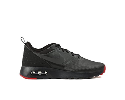 Nike Air Max Tavas PRM (GS) Sneaker Aktuelles Modell 2016 schwarz/grau/rot, Schuhgröße:EUR 38, Farbe:schwarz (Grau Air Schwarz)