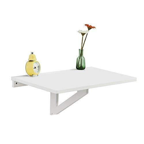 SoBuy® FWT03-W Table Murale Rabattable en Bois, Table de Cuisine, Table Enfant, L60×P40cm -Blanc