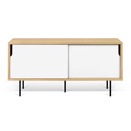 Paris Prix - Temahome - Meuble TV Design dann 135cm Chêne & Blanc