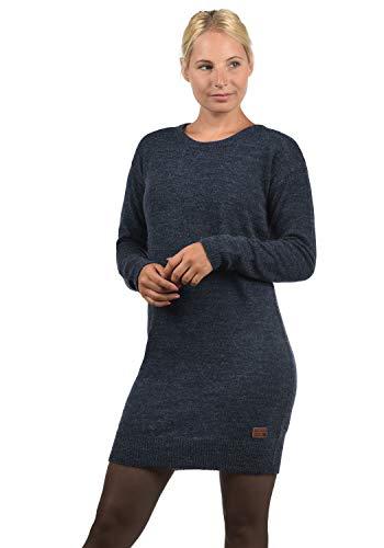BlendShe Natti Damen Strickkleid Feinstrickkleid Kleid Mit Rundhals-Ausschnitt, Größe:L, Farbe:Navy (70230)