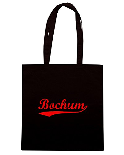 T-Shirtshock - Borsa Shopping TSTEM0213 vintage bochum red Nero