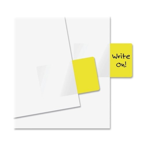 Redi-Tag Products - Redi-Tag - Removable Semi-Transparent Page Flags, Yellow, 50/Pack - Sold As 1 Pack - Flag it, remove it, reuse it! - Color-code files or flag important messages. - Works with ballpoint pen, pencil or permanent marker. - 500 flags per p by Redi-Tag