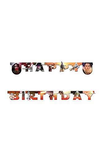 Erwachen der Macht Happy Birthday Gestanzte Girlande ()