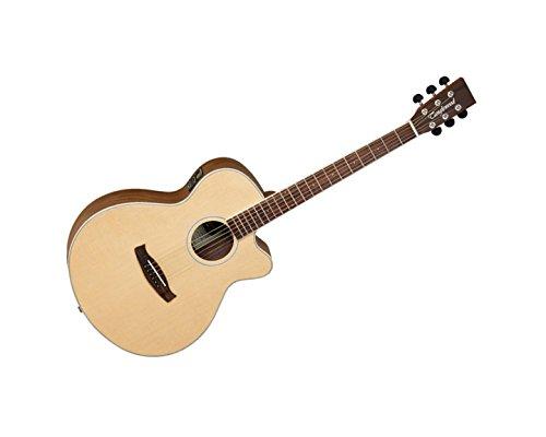 Tanglewood–DBT SFCE Super BW Elektroakustische - Akustische Martin Gitarre Schwarz