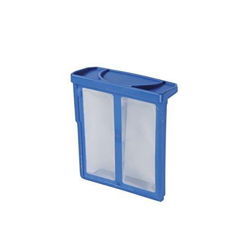 ORIGINAL Bosch Siemens 619697 00619697 Feinfilter Filter Wäschetrocknersieb Sieb Wäschetrocknerflusenfilter Flusensieb 68 x 77 x 27 mm blau Wäschetrockner Trockner