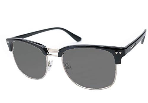 NEW Damen Herren +1.00 +1.5 Retro Vintage Sun Lesebrille gegenüber Sonnenlicht in der Sonne zu lesen Brille Clubmaster Morefaz(TM) (+1.00 Retro Black)