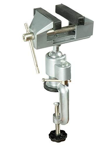 Schraubstock 70 mm 360° drehbar mit Kugelgelenk Tischschraubstock