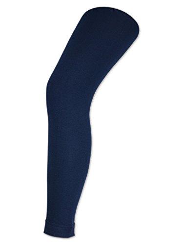 sockenkauf24 Damen THERMO Leggings mit Innenfleece extra warm Innenfutter Fleece Leggins (42/44, Navy)