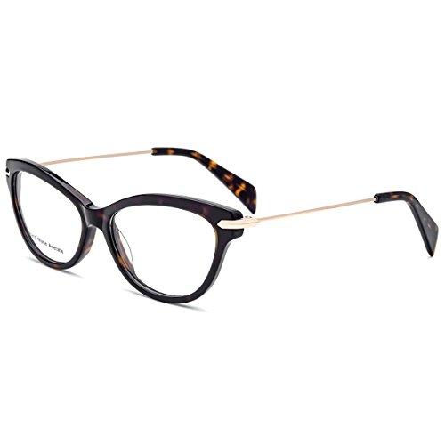 hepidem Acetat Gläser, handgefertigt optischen Rahmen Eyewear Brille 2148, Braun