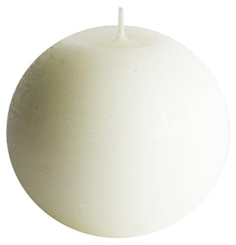 Velas Aurora Olimpia Redonda Pequeña de Yute, Cera, Color Blanco, 10 X 10 X 9,5 cm