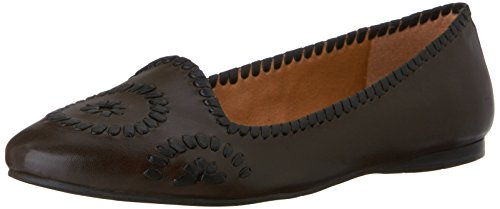 Jack Rogers Waverly Cuir Chaussure Plate Dark Spresso