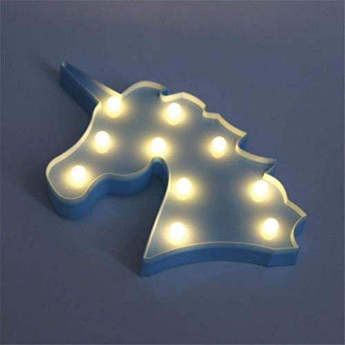 CC6 Lumière de Nuit Licorne Tête Tir Décoratif Props Lumières LED Lampe de Bureau Mignon Salle des Enfants Style Nuit Lumière Rêve Tenture Murale