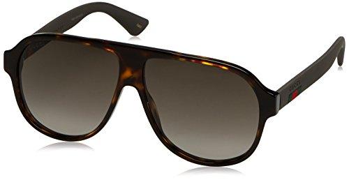 Gucci GG0009S, Gafas de Sol para Hombre, Negro (Blue/Black/Silver), 59