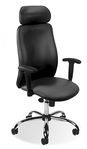 Dreams4Home Drehstuhl \'Jupiter\', Bürostuhl, Schreibtischstuhl, Chefdrehsessel, Chefsessel, Arbeitsdrehstuhl, Stuhl,schwarz