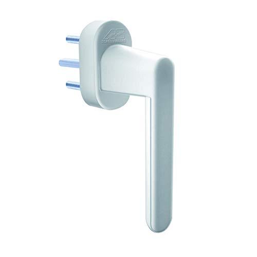 fenstergriff alarm Schellenberg 46506Griff von Sicherheit mit Alarm in Weiß für Fenster, Türen, Balkone und Terrassen, weiß, 37mm