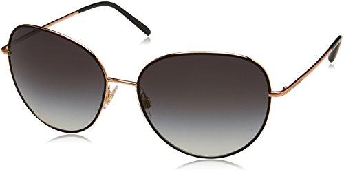 Dolce & Gabbana Damen 0DG2194 12968G 58 Sonnenbrille, Schwarz (Matte Black/Pink Gold/Greygradient),