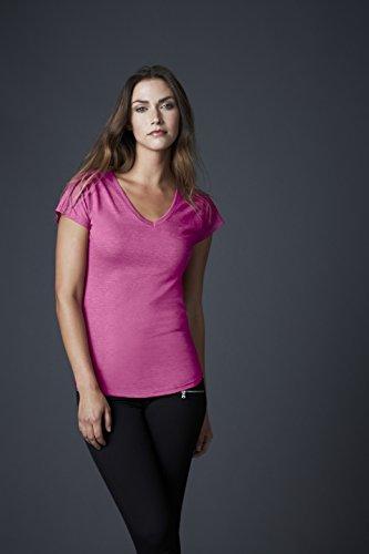 Anvil - T-shirt - Femme Violet chiné