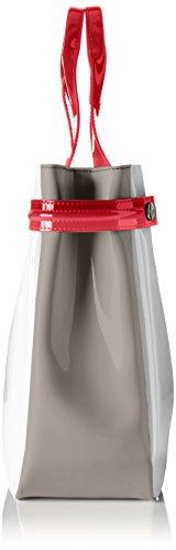 Armani Jeans Damen 922548cc852 Henkeltaschen, 12 x 27 x 40 cm Mehrfarbig (BIANCO/BEIGE/GERANIO 43410)