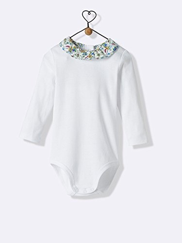 Cyrillus - Body bébé col en Liberty blanc/col liberty floribunda-Blanc/col Liberty Floribunda-9M