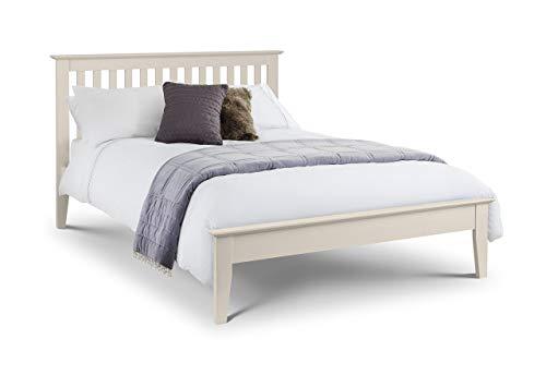 Julian Bowen Salerno Shaker Bett, elfenbeinfarben, Holz, 135cm, Doppelbett, Holz, elfenbeinfarben, King Size (King-size-holz-bett)