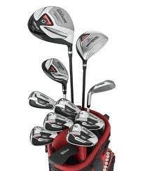 Wilson Anfänger-Komplettsatz, 11 Golfschläger mit Carrybag, Herren (rechte Hand) Profile VF, Schwarz/Grau/Rot, WGG157238