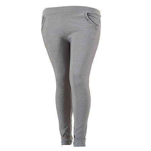 Plus Size Treggings Skinny Hose Für Damen bei Ital-Design Grau