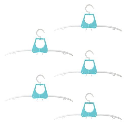 Sodial stendibiancheria pieghevole portatile da 5 pezzi appendiabiti pieghevole per viaggio