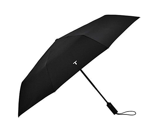 Schwarz Lightweight Compact Vollautomatisch Travel Regenschirm Folding Double Person Dreifach-Regenschirm Men Ms Windproof Sonnenschirm automatisch EIN- / ausschalten