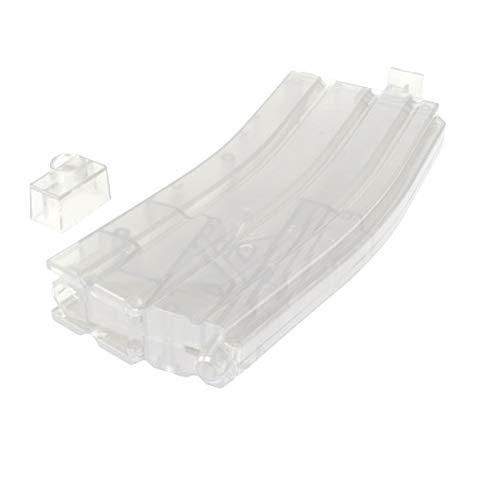 ARSUK Airsoft Plastic 500 Count Round Speed Loader für 6 mm BB-Pellets (500 Runden-Transparent) -