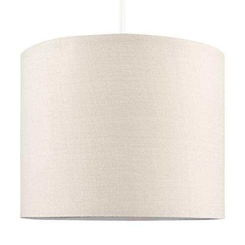 MiniSun – Moderna pantalla de color cappuccino, tamaño pequeño y forma cilíndrica – para lámpara de techo o lámpara de mesa