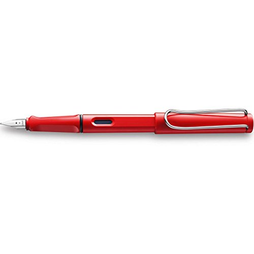 Lamy FH05251 -Füllfederhalter Safari, Feder: F,Modell 16, rot (hot)