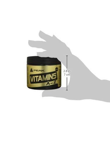 Peak VITAMINS A-Z – 180 Tabs á 750 mg – Net wt. 135g - 6