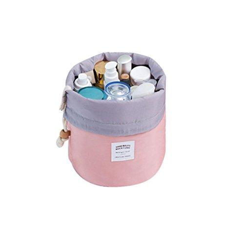 Trousse De Toilette De Voyage A Suspendre,LONUPAZZ 3 Pcs CosméTique Bijoux Lavage Hanging Storage Bag Toilette Maquillage Voyage Sac Pochette Petite Sac Transparent (Rose)