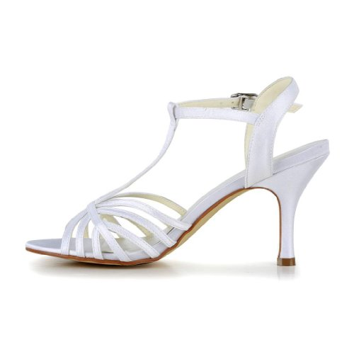 Jia Jia Wedding 1416 Scarpe Sposa Scarpe col tacco donna Bianco