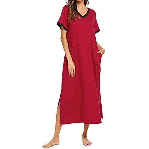 Subfamily Damen Gestreift Lange Boho Kleid, Übergröße Maxikleid Dame Strand Sommerkleid Lange Kleider Ärmellos Partykleid Festliches Kleid große größen