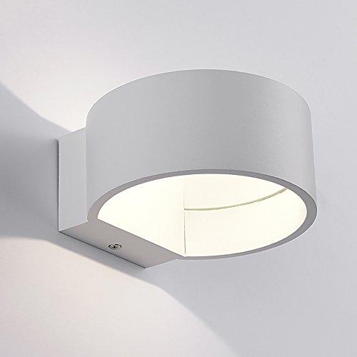 5 Scrub (Wandleuchte Moderne Mode Minimalismus Metall Scrub LED Wandleuchte 5w Weiß Schwarz Wandbeleuchtung ( farbe : Weiß ))