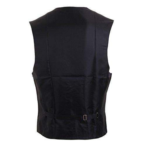 MultiWare Gilet De Mariage Homme Gilet Costume Noir/Violet