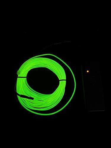 SOUTHSKY Verde EL Wire 5M de vert de néons waterproof conduit intérieur/extérieur des décorations de noël