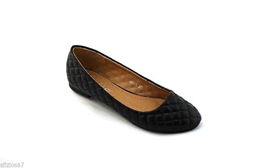 Sfiziosa-ballerines Chaussures Femme Matelassé Noir-gris Faux Cuir Noir