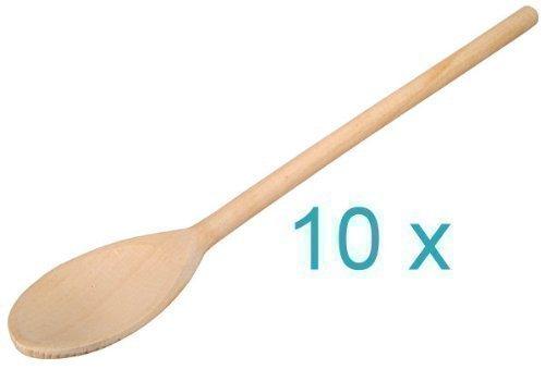 Kochlöffel, oval, L: 30 cm, (10 Stück)