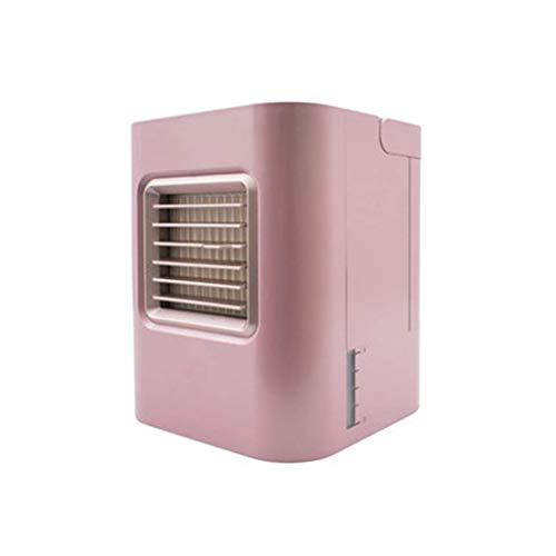 Mobiles Klimagerät Verdunstungskühler Büro Desktop-Befeuchtung Kühler Schlafzimmer Bett Spray USB-Lade Klimaanlage Lüfter Luftbefeuchter (Color : Pink) -
