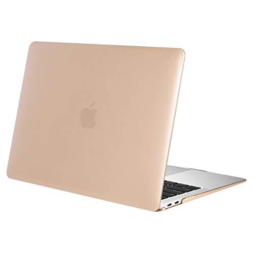 MOSISO Hülle Kompatibel MacBook Air 13 2018 Freisetzung A1932 mit Retina Display, Plastik Hartschale Case Cover Nur Kompatibel Neueste MacBook Air 13 Zoll mit Touch ID, Gold