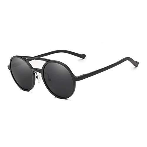 VIWIV 2019 Steampunk Vintage Aluminium Sonnenbrille Herren Runde Linse Polarisierte Sonnenbrille Herren Sonnenbrille Driving Glasses,4
