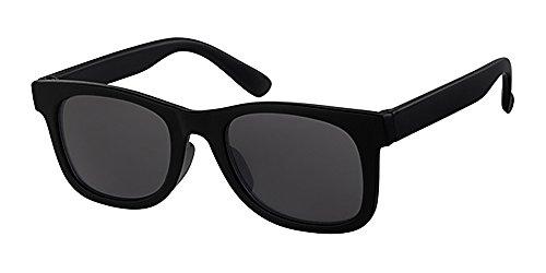 Kinder, Kinder, 1-4Jahren, schwarz Kunststoff Sonnenbrille, mit gratis gelb neckcord, schwarz Objektiv